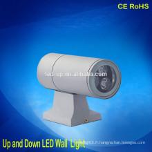 Aluminium 3W vers le haut et le bas de la lumière de la lumière
