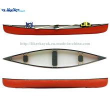 Fishing Boat Canadian Canoe Three Seats Fishing Leisure Sport Canoe LLDPE Kayak