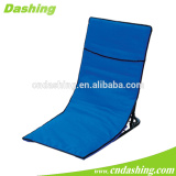 Folding spray chair with zipper pocket