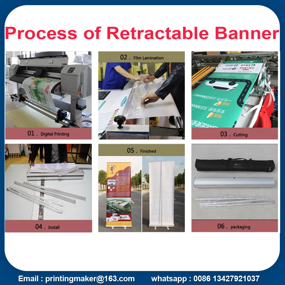 process of roll up stand banner