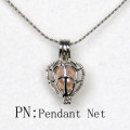 Venta al por mayor Silver Net Shaped Pearl Bead Cage Pendant