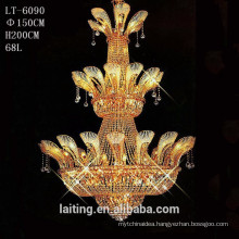 Hotel extra large crystal chandelier, chandelier large