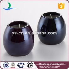 Runde glasierte keramische Kerzenhalter Teelichter