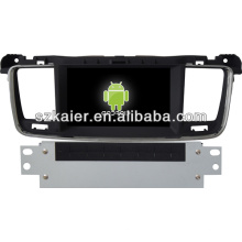 Android system car Gps navigation for Peugeot 508 with GPS/Bluetooth/TV/3G/WIFI