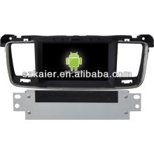 Navegação GPS de sistema de carro Android para Peugeot 508 com GPS / Bluetooth / TV / 3G / WIFI