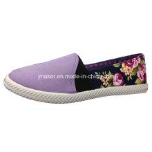 2016 Slip casual floral de la lona en los zapatos J2613