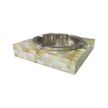 Eco Friendly Golden Mother of Pearl Ashtray