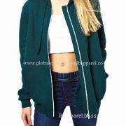 OEM/ODM Apparel Manufacturer Women's Cotton Custom Hoodie/Sweatshirt, side seam pockets