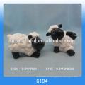 Большой размер прекрасный керамический овец украшение с черным лицом