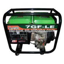 Venta al por mayor de la venta caliente de la casa El solo-cilindro silencioso portable 4-stroke diesel generador 6KVA