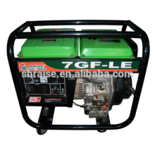 Hot-sale Household Portable silencioso cooper single-cylinder 4 tempos Diesel 6KVA Generator