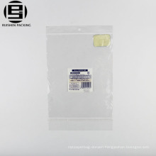 Clear BOPP funny flat plastic cookie packaging bags with flat bottom