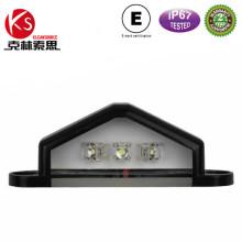 Licencia de E-MARK Ltl25 placa luz LED trasera para camión Trailer