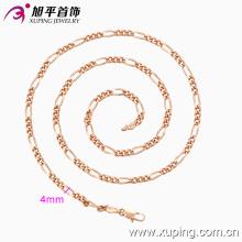 Xuping Moda Rosa Oro Color Primaria-Secundaria Collar (42553)