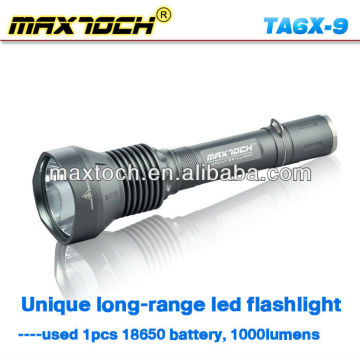 Maxtoch TA6X-9 New Design LED Tactical Flashlight 18650