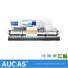 Systimax cat5e 24 ports 1U panneau de raccordement sans contact de 19 po / AMP Dual IDC RJ45 LSA krone patch panel avec gestion de câble
