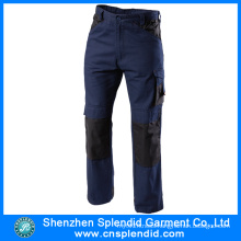 Wholesale Twill Fabric Men′s Navy Blue Work Pants