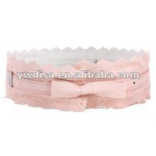 Ceinture élastique rose pour fille