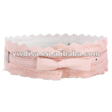 Girls Pink Elastic Belt