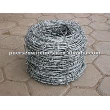 12 gauge safe Galvanized and pvc coated barbed iron wire