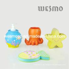 Coloridas del tema del mar niño de accesorios de baño (wbp0268a)