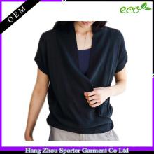 16FZSW03 malha elegante algodão cashmere mulher camisola poncho