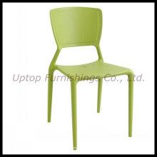 Muebles para cafetería Silla lateral de plástico verde (SP-UC308)