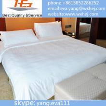 100% Polyester gebürstet Bettbezug / Bettbezug / Done Cover in weiß gesetzt