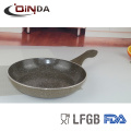 Forged aluminum marble stone coating frying pan with silicon handle