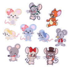Iron on embroidered Mouse Patch Clothing Embroidery