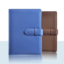 Cahier relié / carnet de bureau / cahier de journal en cuir d'unité centrale