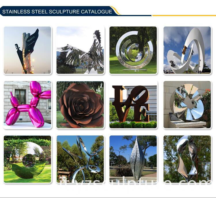 Abstract Stainless Steel Sculpture