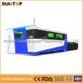 Станок для лазерной резки листового металла 1000 Вт, Рабочий стол с двумя рабочими столами, Модель с полным приложением
