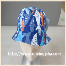 children custom printed fishman cap