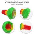 Bol en verre de silicone diamant 14 mm 18 mm