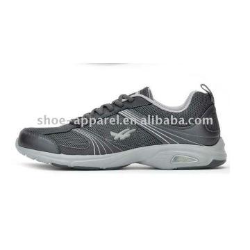 chaussures de course en maille grise pour hommes