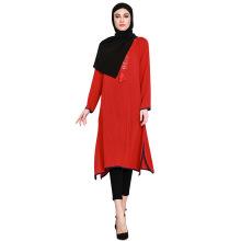 Fabricante novo modelo árabe Dubai muçulmano Abaya vestido coleção