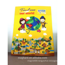 China supplier wholesale OEM magnetic world map puzzle for kids, students,