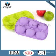 6-полости яблоко силиконовые формы для выпечки пресс-формы Sc20