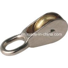 Poleas de aleación de zinc de una sola rueda fija y giratorio ojo poleas