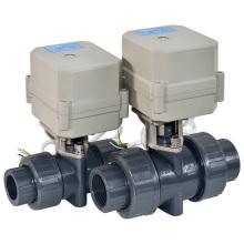 Válvula de bola de PVC del control motorizado del flujo eléctrico de 2 maneras con el CE para el agua caliente (A100-T20-P2-C)