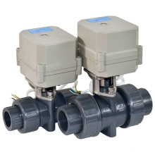 2 Way Electric Motorized Flow Control PVC Ball Valve with CE for Hot Water (A100-T20-P2-C)