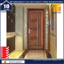 Wooden Interior Room Solid Wood Melamine Veneer PVC Panel Door