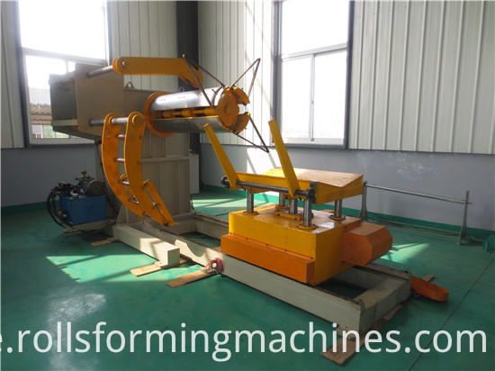10T Hydraulic Steel Coil Decoiler For Sale
