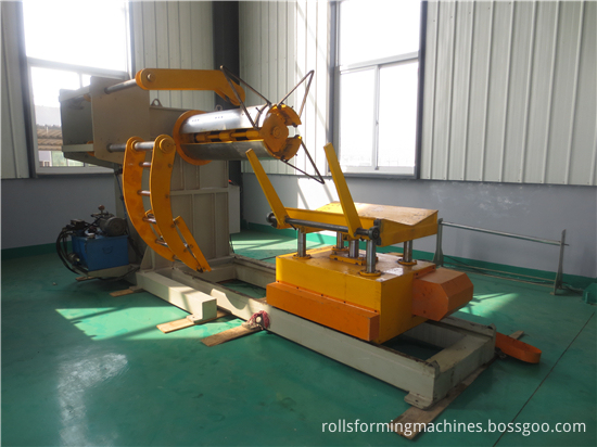 5 T Hydraulic Steel Coil Decoiler For Sale