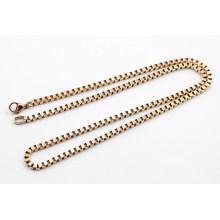 Moda de aço inoxidável Rose Gold Chain para colar