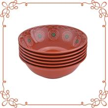 9 Inch Melamine Shallow Bowl set of 6