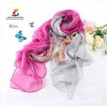 Double color gradient Cashmere scarf pashmina scarves, shawls Ponchos wraps silk scarf