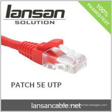 RJ45 UTP CAT 5E 1M Patchkabel, vergoldet, 100Mhz, PVC / LSOH, ETL / UL / ROHS, LANSAN