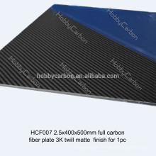 Feuille de fibre de carbone pure de feuille de fibre de carbone de coupe de poche Personnaliser le prix 0.5mm, 1mm, 1.5mm, 2mm, 2.5mm, 3mm, 3.5mm, 4mm ,, 5mm, 6mm